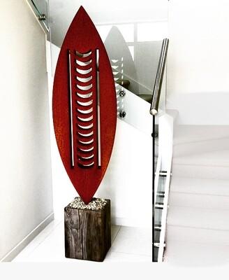 3D Corten Nikau Sculptures