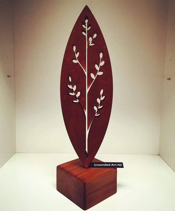 3D Corten Korokio Sculptures