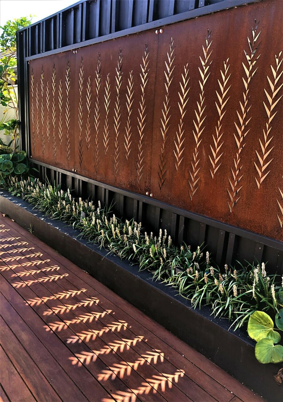 Corten Leaf Screens and Panels