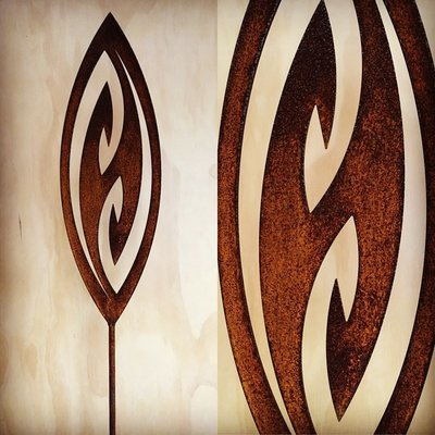 Corten Spear - Fish Hook