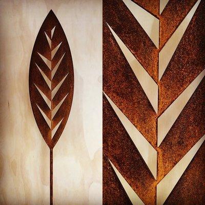 Corten Spear - Leaf