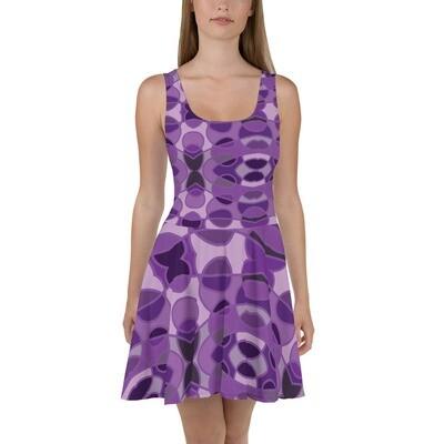 Purple Abstract Circle Dress