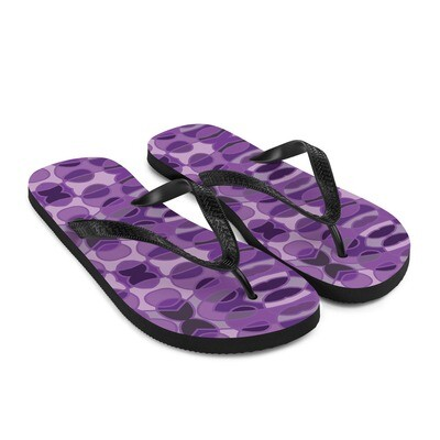 Purple Abstract Circle - Flip-Flops