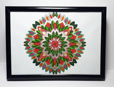 Original Art - Green & Red Mandala