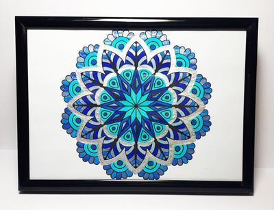 Original Art - Blue Mandala