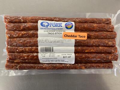 Cheddar Taco Snack Stick (Approx. $13.50/pkg)