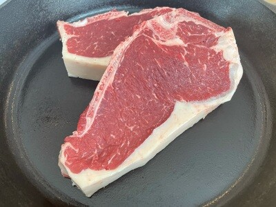 (2) Bone In New York Steak (Approx. $25/pkg)