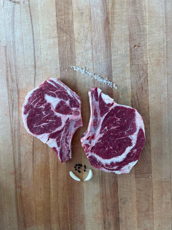 (2) Bone In Rib Steak (Approx. $32/pkg)