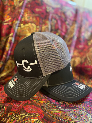 Black Cap w/ White Brand
