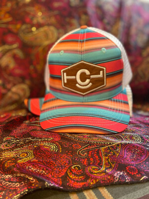 Serape With Leather Patch