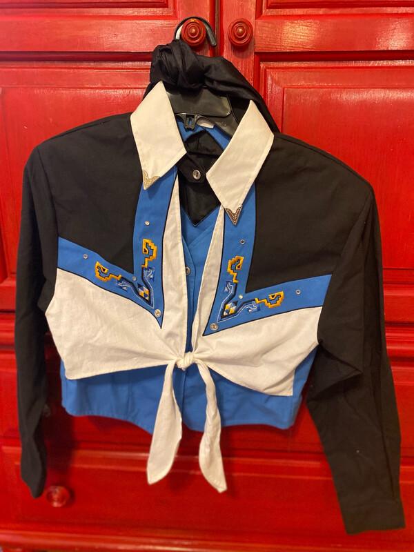 Small Vintage Ladies Western Shirt