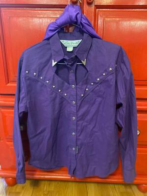 Small Purpal Vintage Western Shirt