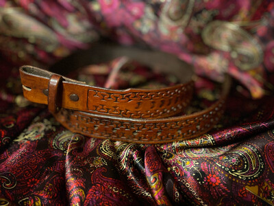 Handmade Leather Belt By Pedro Tapered End