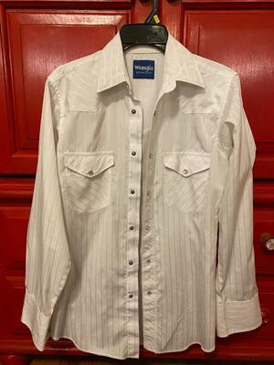 Men's Small White Western Shirt Used