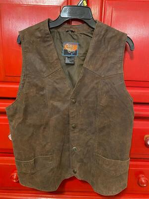 Cripple Creek Men's Snap Button Leather Vest