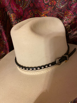 Black & Rhinestone Hatband