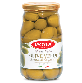Grüne Oliven Bella di Cerignola Iposea 530 g