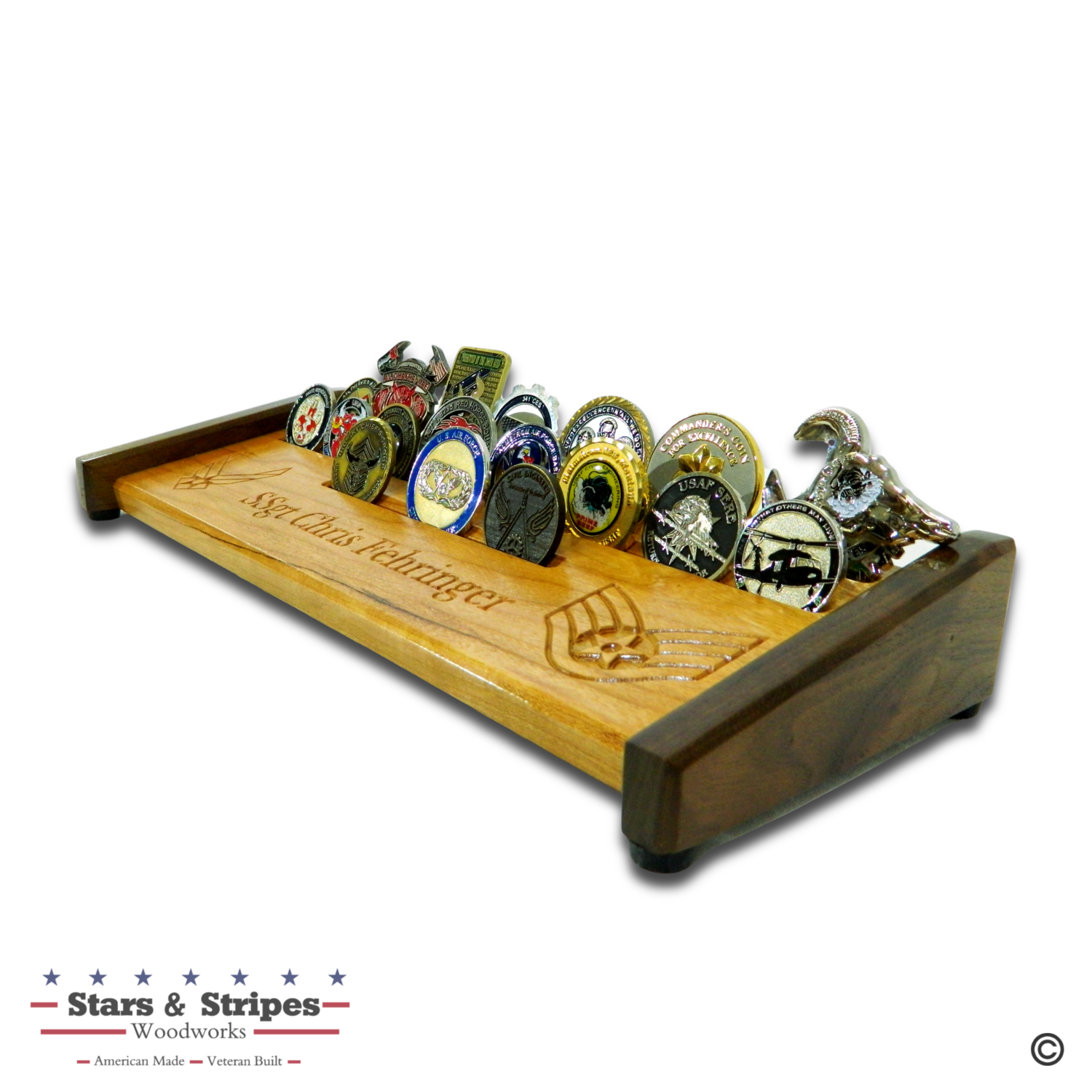 Personalized Challenge Coin Rack Display