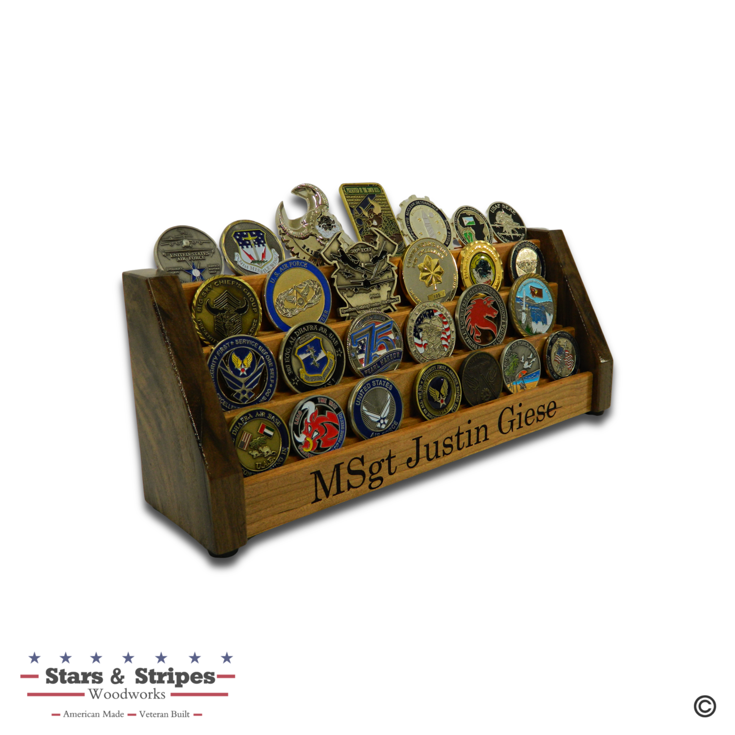 Vertical Desktop Challenge Coin Rack Display