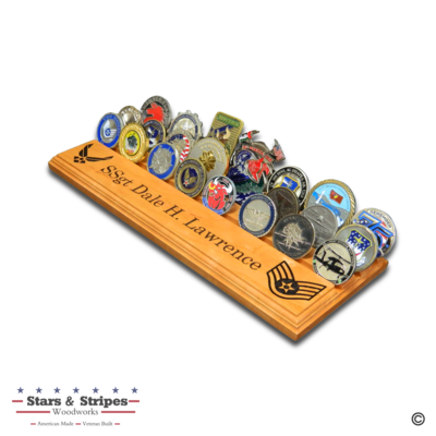 Flat Desktop Challenge Coin Rack Display