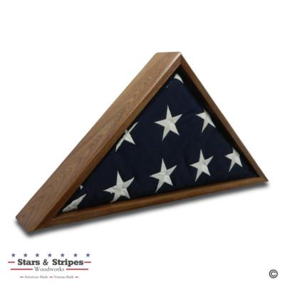 Walnut Burial Flag Display Case (5' x 9 1/2' Flag)