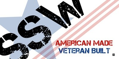 SSW Patriotic Sticker - Veteran Built - 4