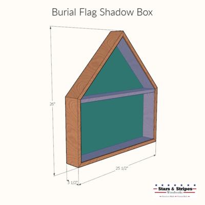 Walnut Burial Flag Shadow Box