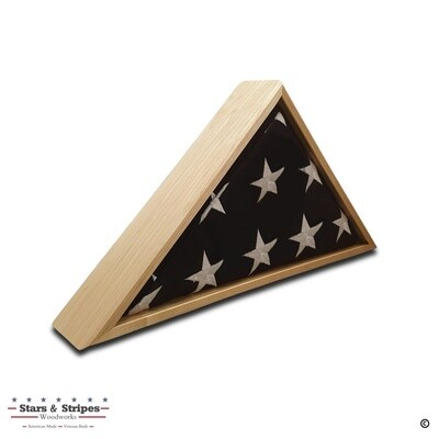 Maple Burial Flag Display Case (5' x 9 1/2' Flag)
