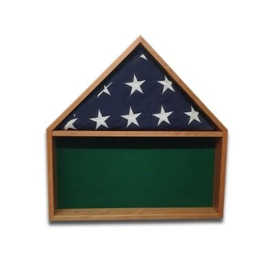 Cherry Burial Flag Shadow Box
