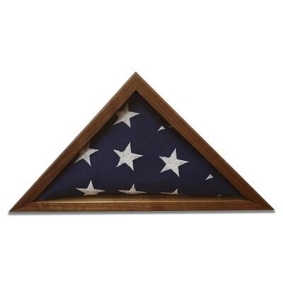 Walnut 3'x5' Flag Display Case
