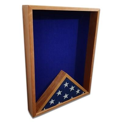 "Cherry 18"" x 24"" Vertical Flag Display Shadow Box"