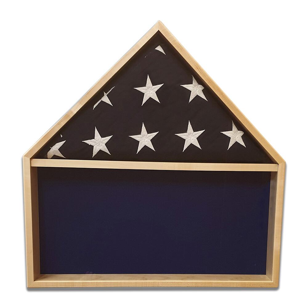 Maple Burial Flag Shadow Box
