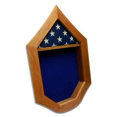 Cherry USAF SNCO Military Retirement Shadow Box