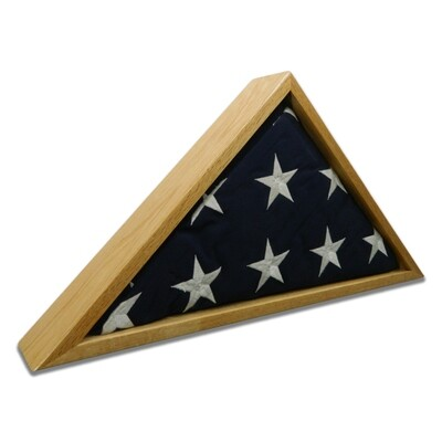 Oak Burial Flag Display Case (5' x 9 1/2' Flag)