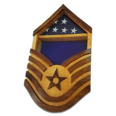 US Air Force E6-E9 Military Retirement Shadowbox