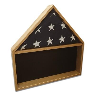 Oak Burial Flag Shadow Box