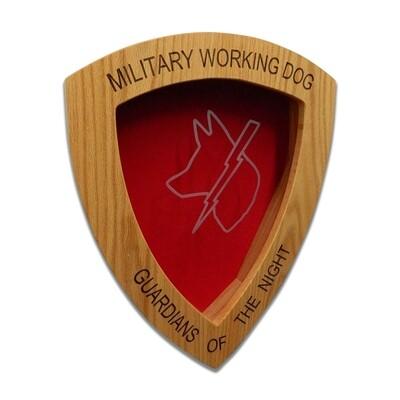 "US Air Force K9 Shadow Box, Military Police, Working Dog, 22 1/2"" x 18"" x4"""