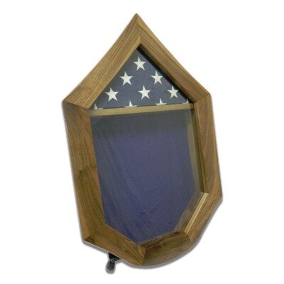 Walnut USAF SNCO Military Retirement Shadow Box
