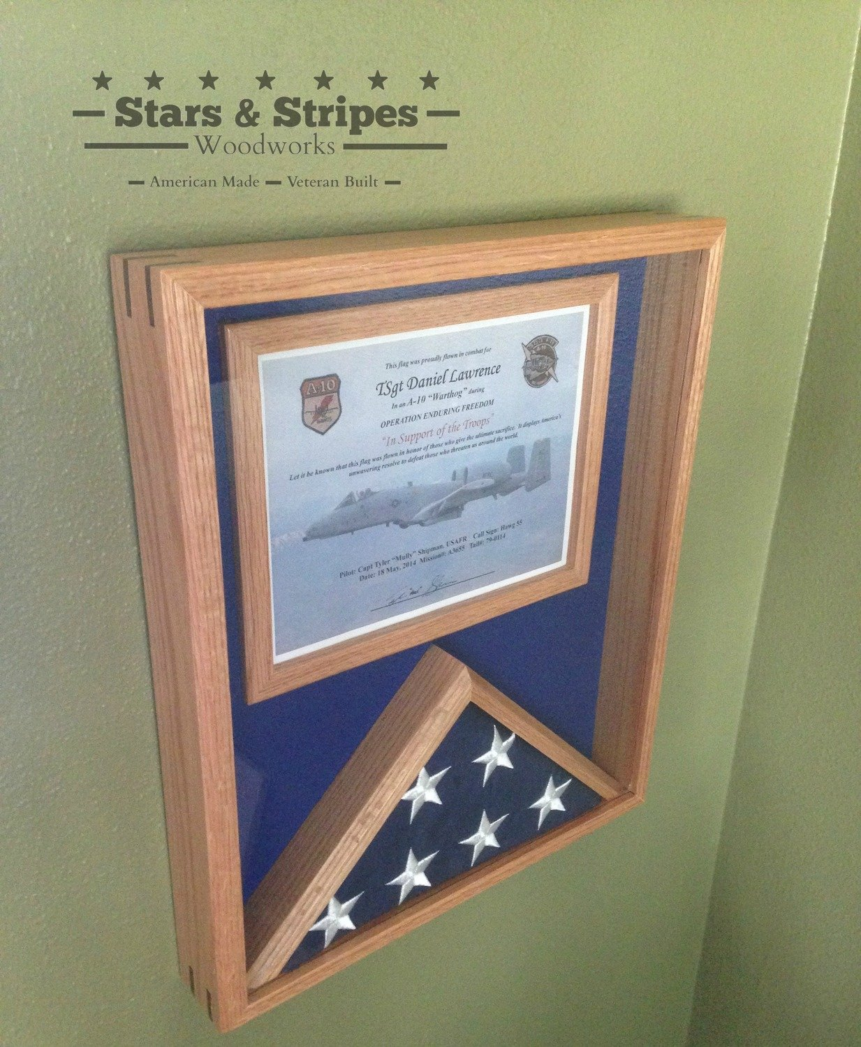 "18"" x 24"" Flag & Certificate Display Case"