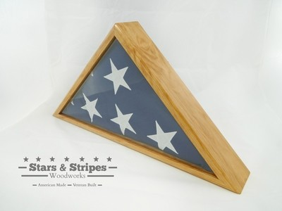 Cherry Burial Flag Display Case (5' x 9 1/2' Flag)