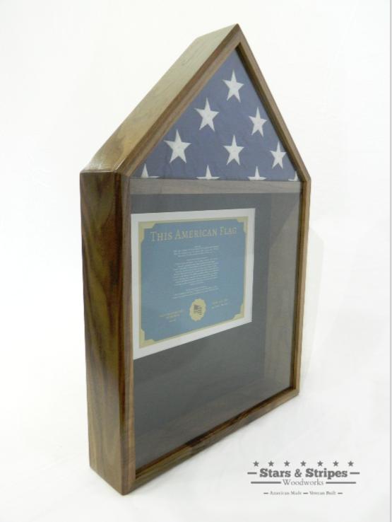 Walnut Flag & Certificate Display Case