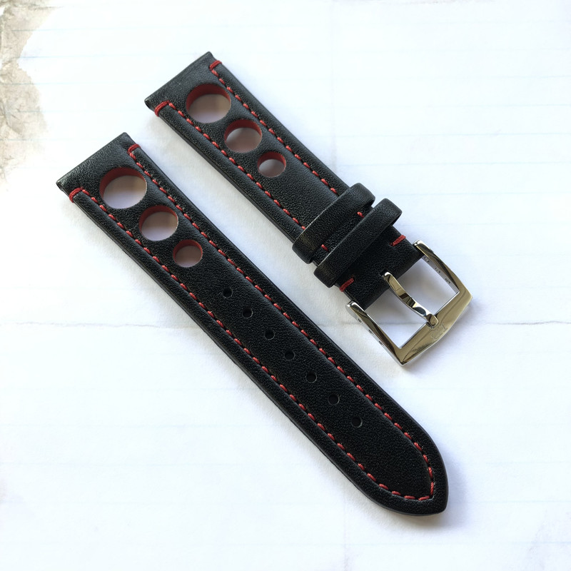 HB Waterproof Black Strap 22mm