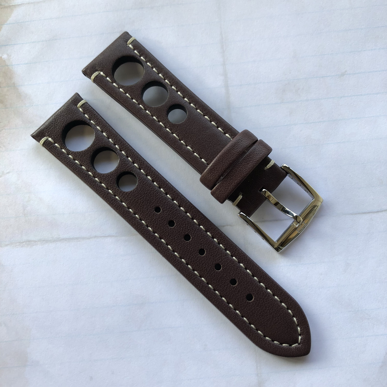 HB Waterproof Brown Strap 22mm
