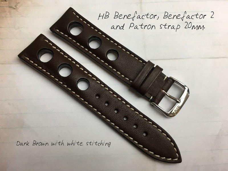 HB Dark Brown Strap 20mm