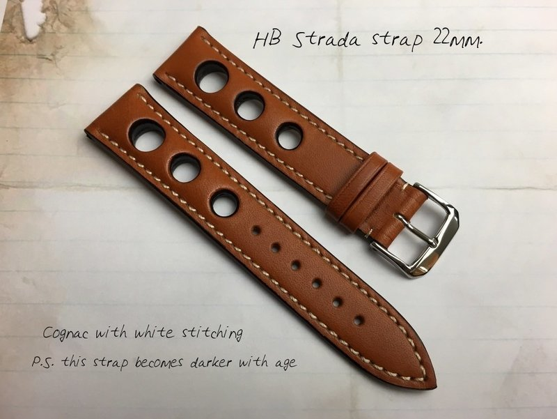 HB Cognac Brown Strap 22mm