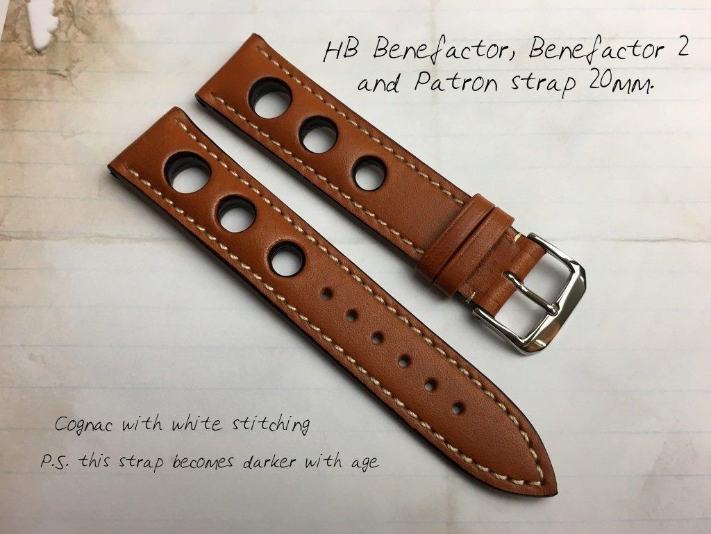 HB Cognac Brown Strap 20mm