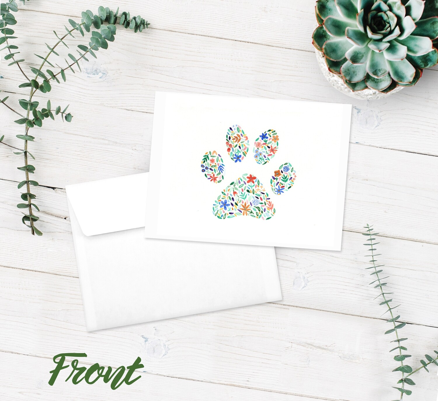 Pawprint Notecard - 10 Pack