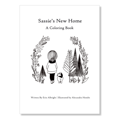 Sassie's New Home — Coloring Book
