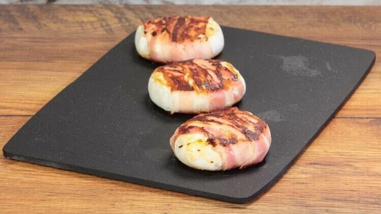 Formaggio bistecca bianca bio da cucinare alla piastra