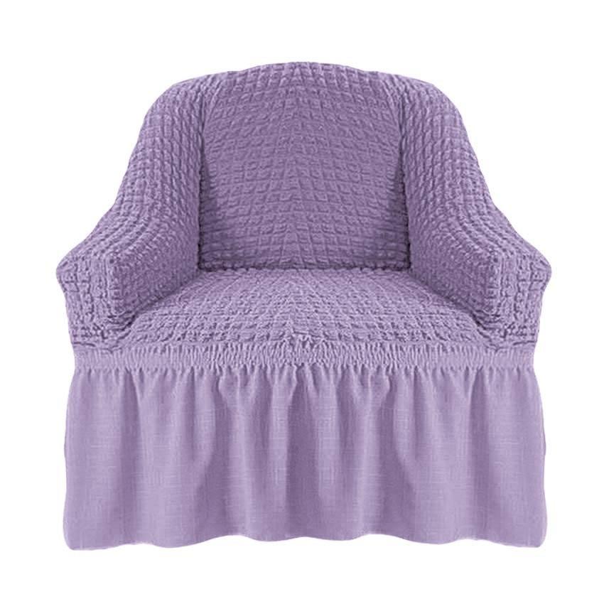Чехол на кресло с оборкой (сирень)